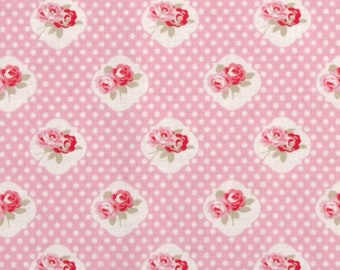 1 Yard Sweetie Rose in Pink / Tanya Whelan Fabric / Petal Collection / Cotton Quilting Fabric /  Quilt Fabric By The Yard