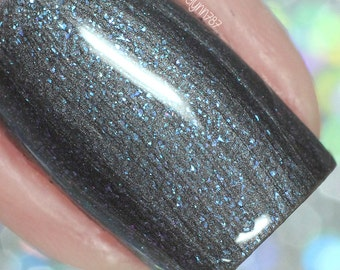 Dark Blue Vegan Nail Polish - Shifts from blue to purple - Wizards Collection - Turn on the Light  - Cruelty Free - Nail Art