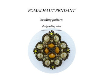 Fomalhaut Pendant - Beading Pattern/Tutorial -  PDF file for personal use only