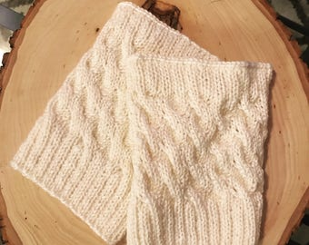 PATTERN Cabled Boot Cuffs