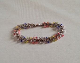 Rainbow (7 Color) Orchids Bracelet