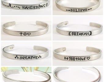 Pick one boho cuff bracelet hypoallergenic aluminum
