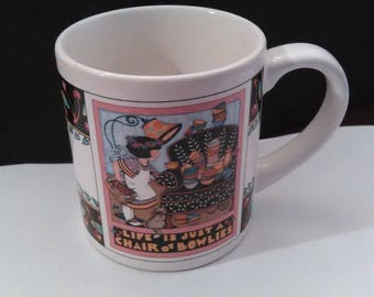 """Vintage Mary Engelbreit Mug """"Life is just a Chair of Bowlies."""" 1992"""
