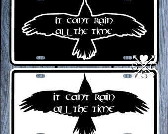 The Crow Eric Draven Brandon Lee Can't Rain All The Time License Plate Car Tag