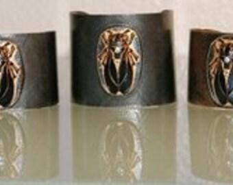 Egyptian Scarab Amazonian Arm Cuffs