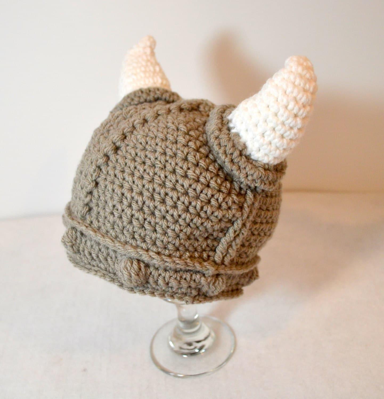 Neugeborenen Wikinger-Hut Baby häkeln Wikinger Mütze
