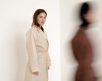 Oversize linen coat, natural linen jacket, warm milk coat, oversize coat women, coat for women, eco linen coat, gift for her, birthday gift