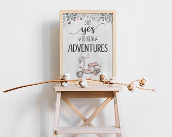 New Adventures, Moving Away Gift, Positive Quote, Relocation Gift, Wall Art, New Beginning, Graduation Gift, Best Wishes, Make a New Start