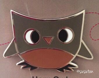Haru Owl enamel pin