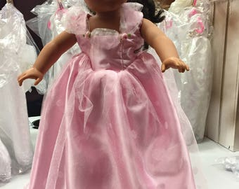 American Girl sized Pink Princess Gown