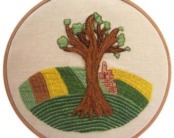"Traditional embroidery kit ""Printemps en Champagne"""