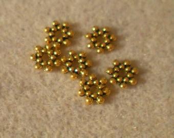 SET of 6 metal spacers Gold 6 mm