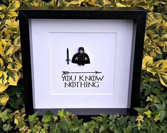 Jon Snow, You Know Nothing, GOT, Game of Thrones, Congratulations Gift, Graduation Gift, Gift for Her, Gift for Him, Birthday Gift,