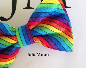 Bow tie cotton Rainbow