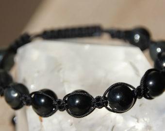 shamballa bracelet Obsidian beads