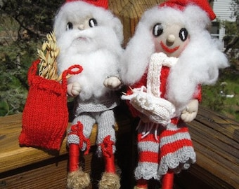 Vintage Swedish Tomte Dolls-Frida and Kevin