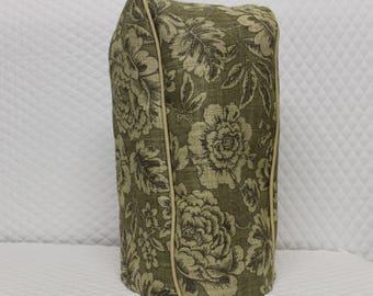 Olive Floral Burlap Blender Cover
