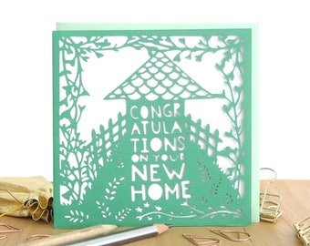 New Home Card, Congratulations on your new home card, Home sweet home card, Moving card, Housewarming card, New house card