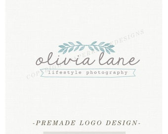 Photography Logo Design - Custom Pre-made watercolor logo -TL008