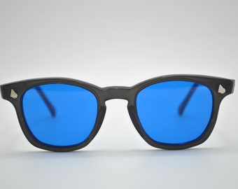 American Optical  Black Frame and Blue Lens, Vintage