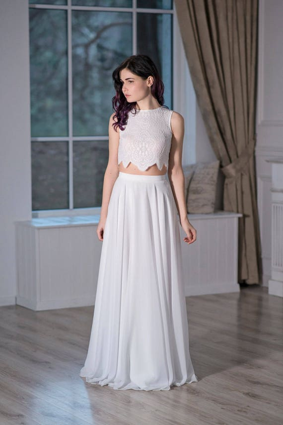 Iris - simple bridal chiffon skirt