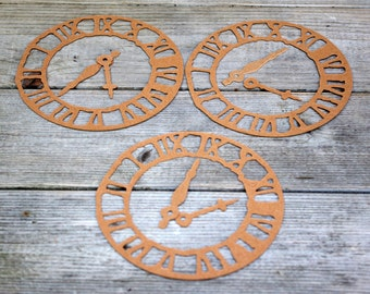 Chipboard Die Cuts Clock Parts