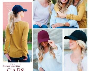 Monogrammed hats for women, womens baseball cap, wool blend cap,monogram baseball cap, monogrammed gifts, gift for women