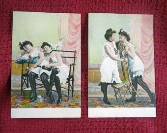 Victorian Erotic Postcards  c.1900