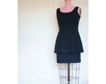 1990s LBD with bow and pleating on back