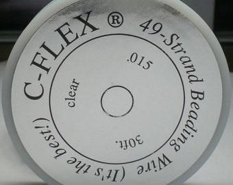 C-Flex 49 Strand Beading Wire Medium .015 30 Feet CFlex015