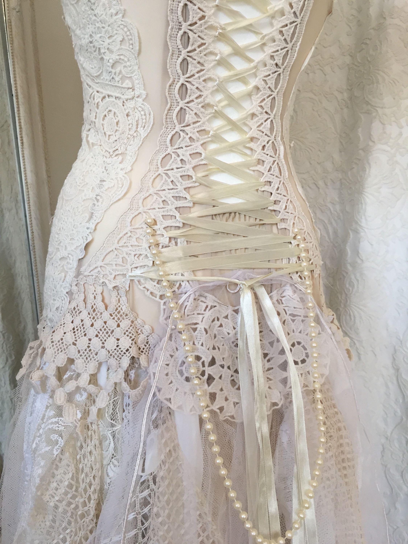 Hochzeit Kleid Fee Göttin ätherisch Brautkleid Brautkleid
