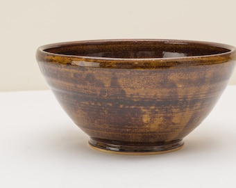 "7.5"" Wide Tyler Amber Spiral Bowl"