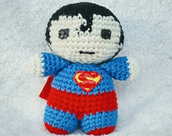 Crochet Doll - Superman Amigurumi Plush Toy - DC Comics Collectibles - Man of Steel - Last Son of Krypton - Clark Kent