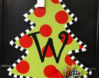 Christmas Tree Door Hanger, Christmas Door Decor, Christmas Wreath