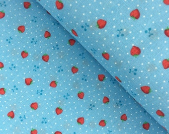 Blue Tiny Strawberries from the 1930's Collection by Lecien Fabrics