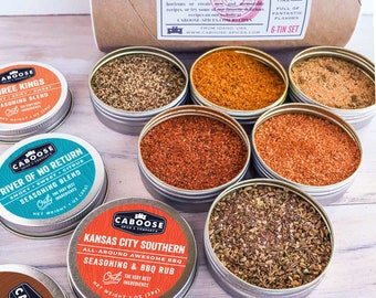 Mothers Day Gifts for Her, Spices Gift Set for BBQ, Grilling, Cooking, Gift for Mom: Kashmir to Abilene Seasonings Food Gift Set