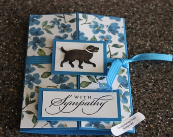 Stampin Up Homemade Greeting Card Dog With Sympathy Card 7050