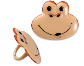 Monkey Cupcake Rings