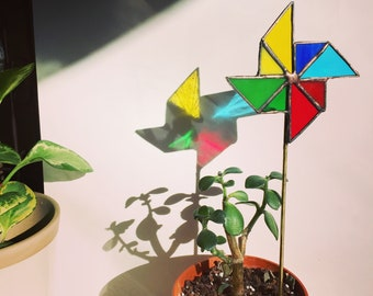 Stained Glass Pinwheels