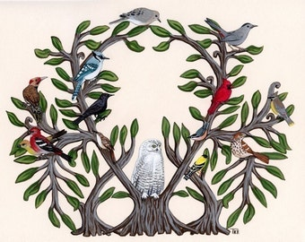 Art Print - The Tree of Bird Life