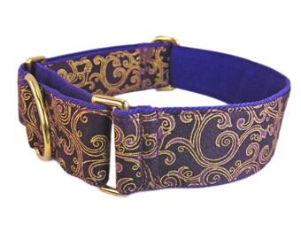 Martingale Dog Collar, Purple Dog Collar, Martingale Collar, Greyhound Collar, Whippet Collar, Soft Dog Collar, Custom Dog Collars, Dog Gift