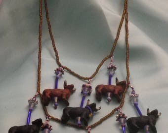 Prize Bulls At The Fair Necklace