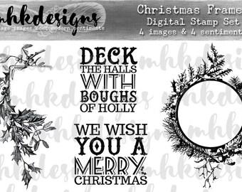 Christmas Frames Digital Stamp Set