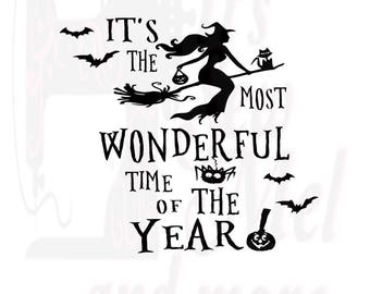 it's the most wonderful time of the year halloween svg dxf and png files