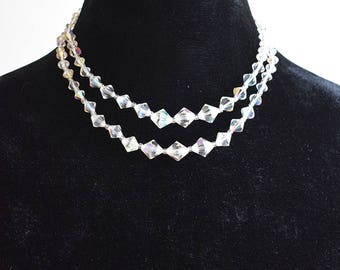 Vintage 1960s Sparkly Two-String Necklace