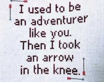 Skyrim Cross Stitch
