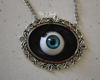 eye cameo necklace