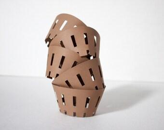 Apple Harvest Basket Designed Shaped Cupcake Wrapper (Set of 12)