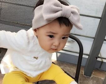 MADE IN KOREA Baby Headbands - Infant Toddler Headband -  Turban Head Wrap - Baby Shower Gift - Baby Girl - Baby Bow Headband