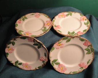 Franciscan Ware Desert Rose Bread And Butter Plates Set Of 4 - Made In California
